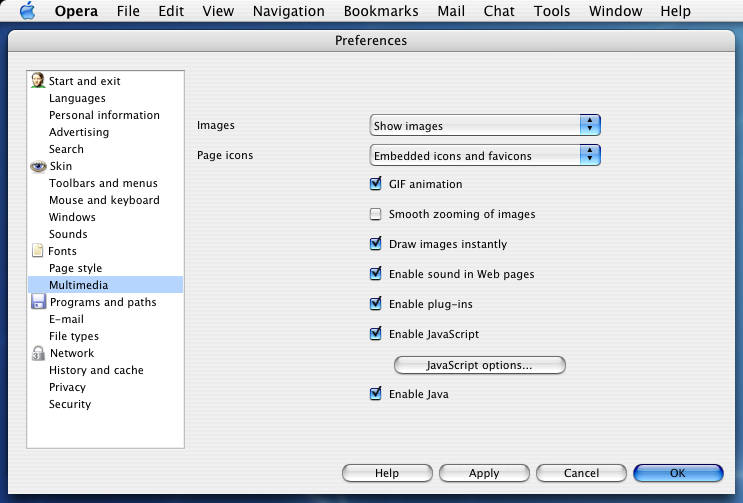Netfaqs macintosh e mail click the javascript options button ccuart Gallery