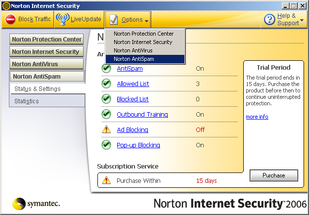 how to add norton toolbar