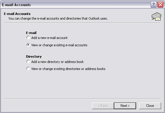 how to change outgoing mail server in outlook