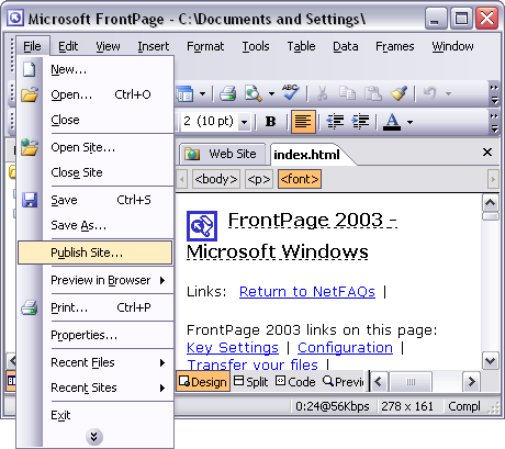 Windows Frontpage 2003 Free Download